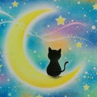 月と猫 A