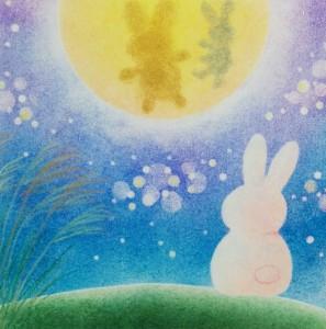 お月見うさぎ2