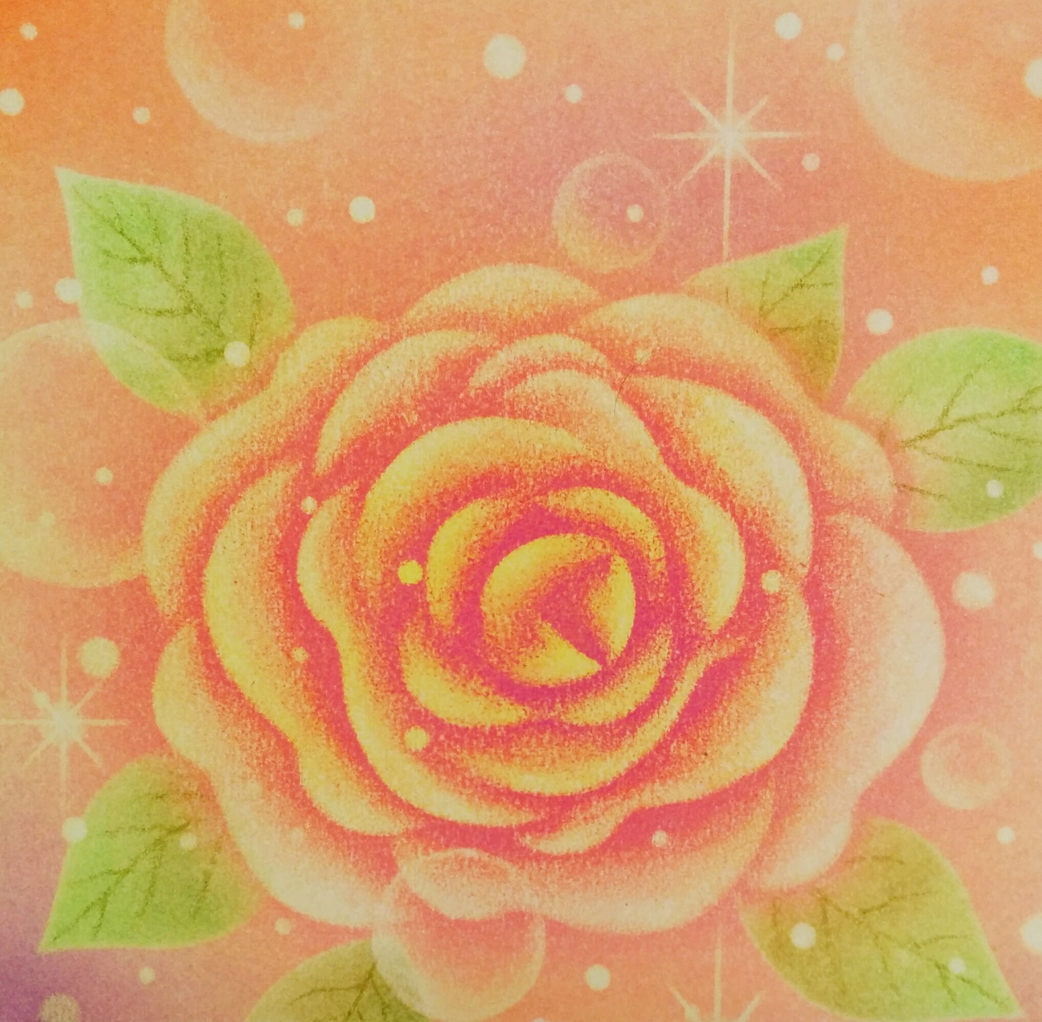 パステルアート「薔薇」