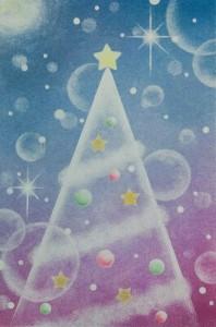クリスマスツリー紫