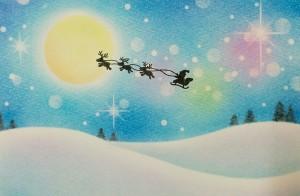 サンタが森にやって来た!