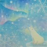 シロクマと雪の結晶 C