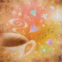 コーヒーを飲みながら♡ A